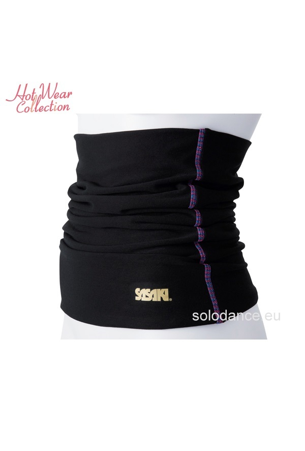 Body Warmer for rhythmic gymnastics SASAKI HW-8043 black size LF (M~L) (150~162 cm)