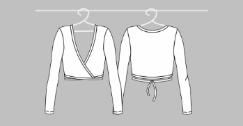Gymnastické Long-sleeve wrap bolero SOLO FD671