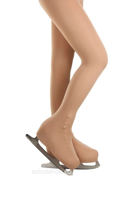 Korcsolyázás harisnya Ice Skating 3D OVER BOOT Tights Eislaufstrumpfhose PRIDANCE 518/50/N (50 DEN) NATURALE nude size L