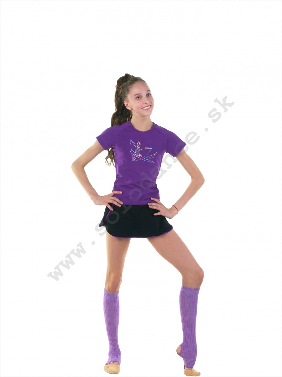 "Rhythmic Gymnastic t-shirt reglan with hologram and crystals SOLO RG649.21 ""Gymnast with rope"""